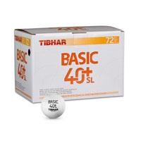 Bolas para ténis de mesa Tibhar Basic 40+SL