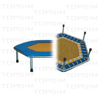 "Zona de salto em pvc, hexagonal, 85cm diâm. p/ mini-trampolim ""Trimm""."