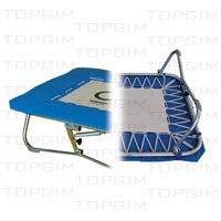 "Zona de salto em lona c/ 60 x 60cm p/ mini-trampolim ""Standard""."