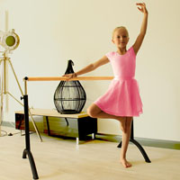 Barra de ballet amovível e ajustável em altura