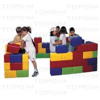 Kit de blocos em plástico para construções infantis