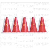 Conjunto de 5 cones de 23cm com símbolos matemáticos