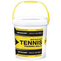 Balde de 60 bolas de ténis Dunlop baixa pressão