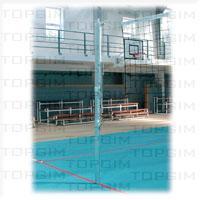 Par de Postes de Voleibol Telescópicos
