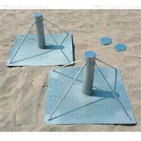 Manga e base para poste de voleibol de praia
