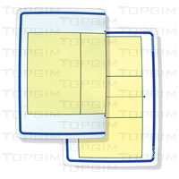 Folha em plástico flexível para quadro táctico - 37x25,5cm