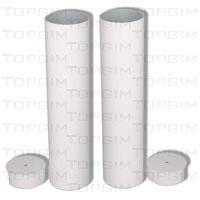 Par de Mangas com tampas para postes de 120mm