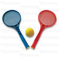 Par de raquetes de mini-ténis c/ 54cm + bola em espuma 70mm.