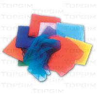 Lenços coloridos para malabarismo