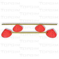 Conj. de 20 marcos delimitadores grandes com orifício concâvo para apoio de bastões