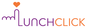 LunchClick Logo (White Landscape)