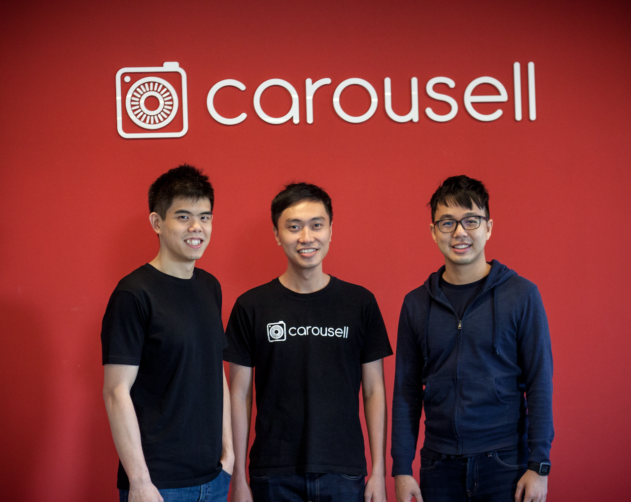 Carousell Co-founders With Logo
