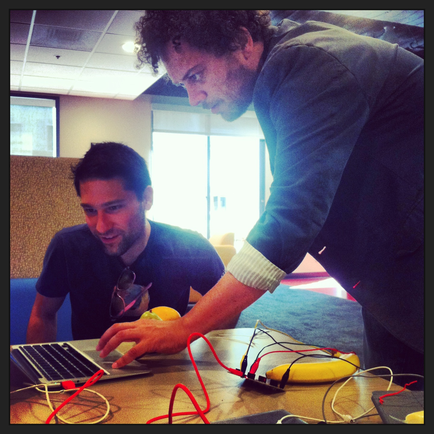 Connor and Justin Biohacking with MakeyMakey
