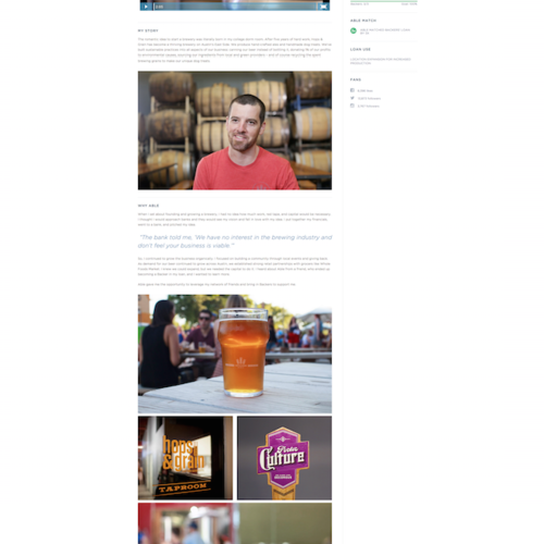 Customer Profile Page - Hops & Grain Brewery