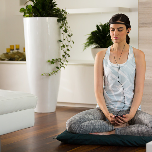 Woman Meditating with Muse