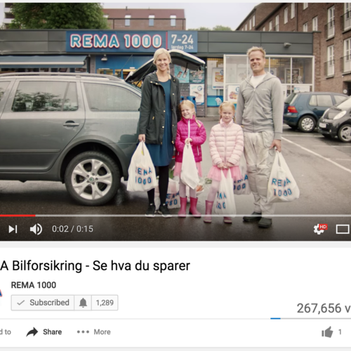 REMA Forsikring, Powered by Smart TV Spot 1: https://www.youtube.com/watch?v=4846vDe6UfU