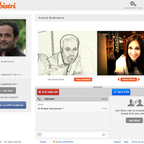Bistri Web Anonymous Video Call