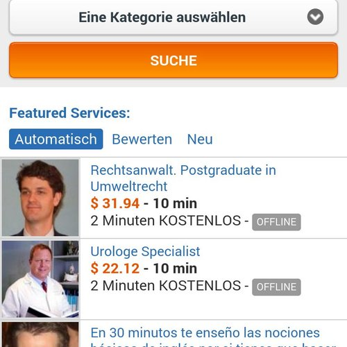 AirPersons Android App screenshot 1 (German)