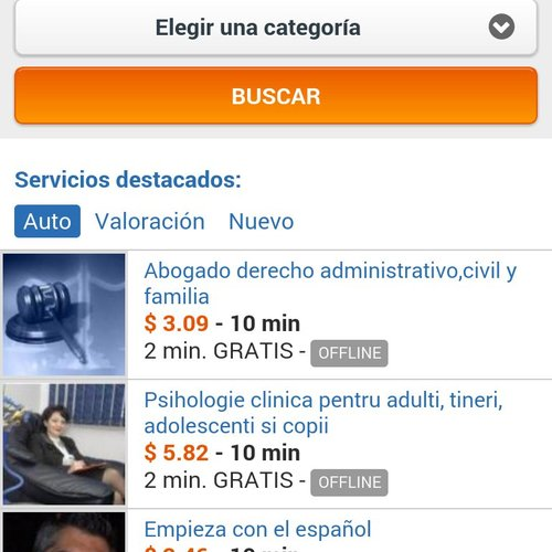 AirPersons Android App screenshot 1 (Spanish)