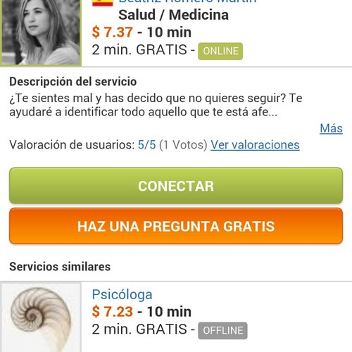 AirPersons Android App screenshot 3 (Spanish)