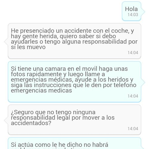 AirPersons Android App screenshot 5 (Spanish)