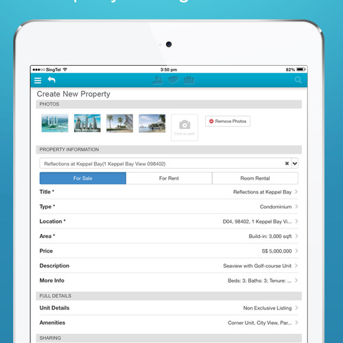 iPad App - Create Lisitng