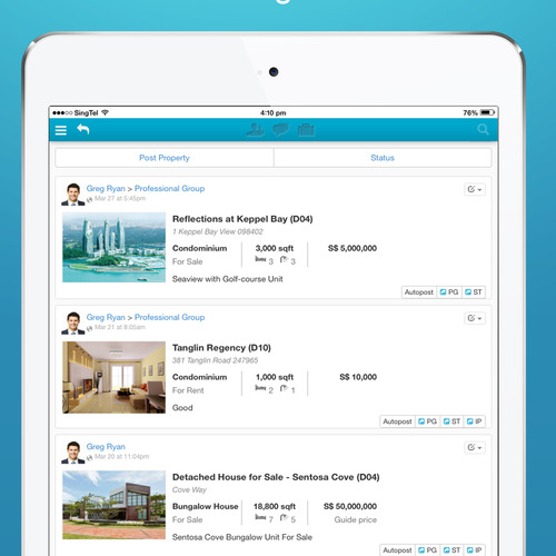 iPad App - Newsfeeds