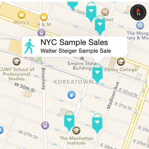 Map of NYC Sample Sales