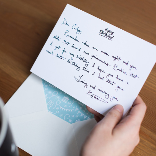 Handwritten Card Received