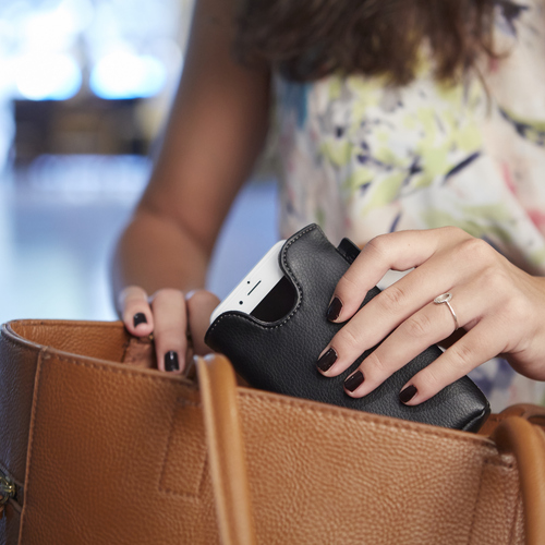 Ampere wirelessly charges your phone so you can leave it in your bag with utter peace of mind