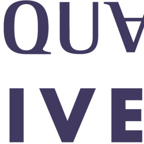 Wqu wordmark purple