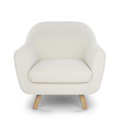 Gabriola boucle lounge chair view 1 2