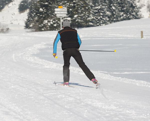 ski pas de patin
