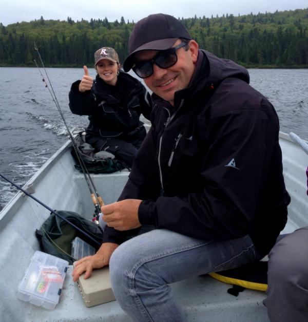 Cyril Chauquet peche la truite au Quebec en Mauricie 4