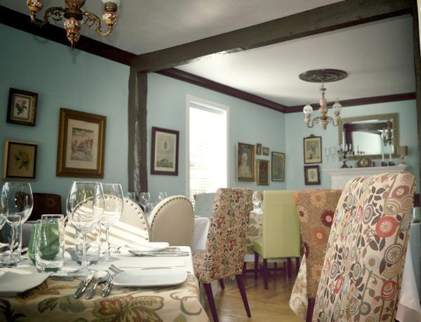 La salle à manger de l'Auberge Aux Goglus