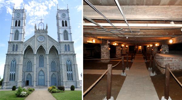 L'église et la crypte de Ste-Anne-de-la-Pérade