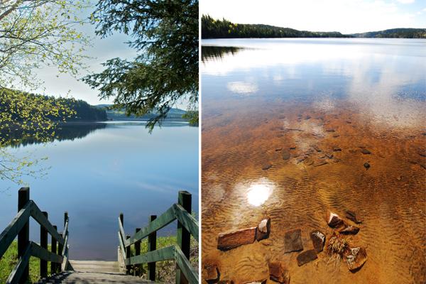 Le Lac-Édouard est vaste, limpide et majestueux