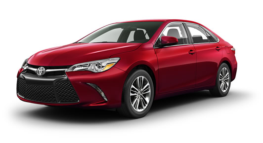 2017 Camry SE in Ruby Flare Pearl