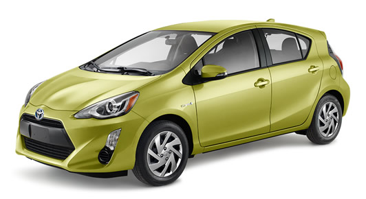 2016 Prius c et Lime électrique métallisé