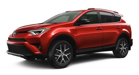 2016 RAV4 AWD SE in Barcelona Red Metallic