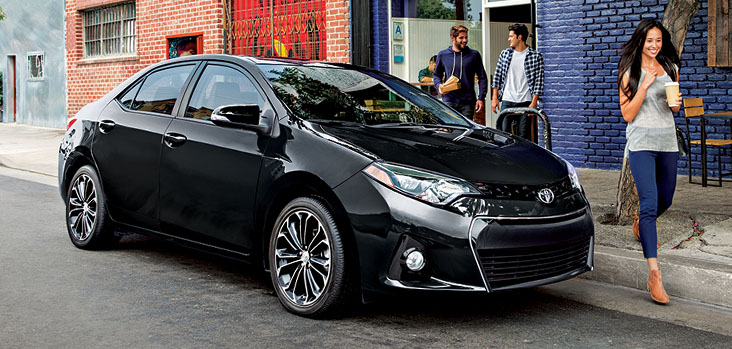 Corolla S with Upgrade Package in Black Sand Pearl.