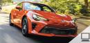 Toyota 86 shown in Hot Lava.
