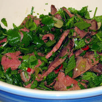 Spicy Thai-style Beef Salad recipe