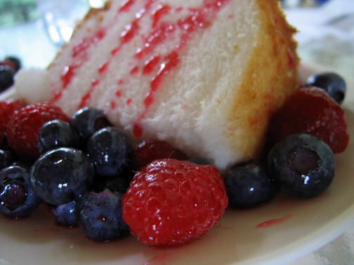 Fresh Berries (with Angel Food Cake) recipe