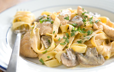 ... - Recipe - Sour Cream Chicken and Mushroom Pasta by Kim Andjordan