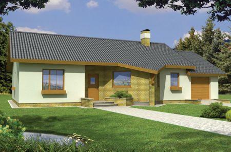 Projekt domu Irys Wersja B dach 17/30 st. 1