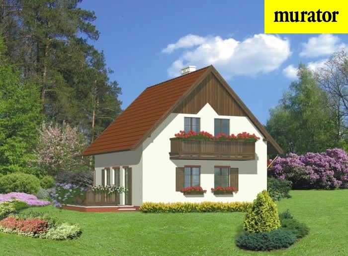 Projekt domu Dom z gankiem - D44 1