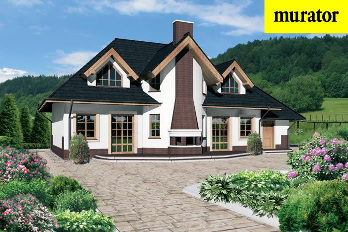 Projekt domu Ma�y dworek - C80 1