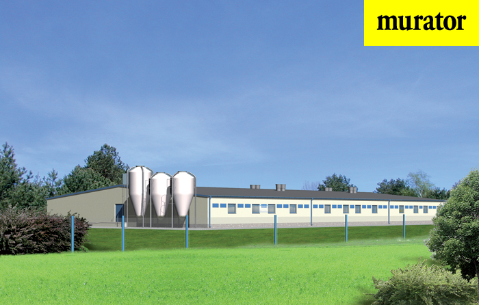 Projekt domu Tuczarnia dla 1440 sztuk, na rusztach - T15 1