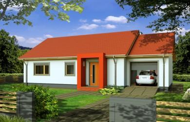 Projekt domu Edgar paliwo stałe wersja a 1